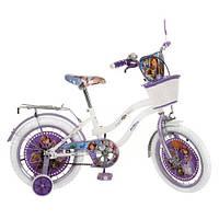Велосипед Профи Принцесса София 16дюймов Profi Sofia велосипед для девочки двухколесный с белыми колесами