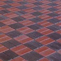 """Тротуарная плитка """"Кирпич"""" h4 цвет на сером цементе"""