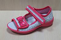 Текстильные босоножки на девочку, польская текстильная обувь тм 3 F р.26