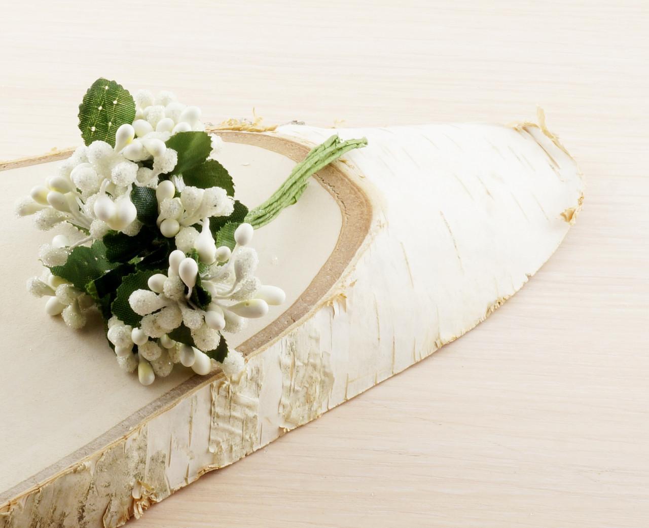 Тычинки бутоньерки белые (6 шт) (товар при заказе от 200 грн) - магазин-студия Цацки в Чернигове