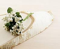 Тычинки бутоньерки белые (6 шт)