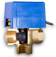 """Трехходовой клапан SF 25 1"""" kvs=12,6 (с возвратной пружиной и электроприводом)"""