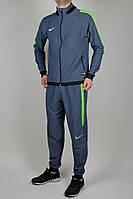 Летний спортивный костюм мужской Nike 1674 Тёмно-синий