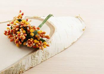 Тычинки бутоньерки оранжевые (6 шт)