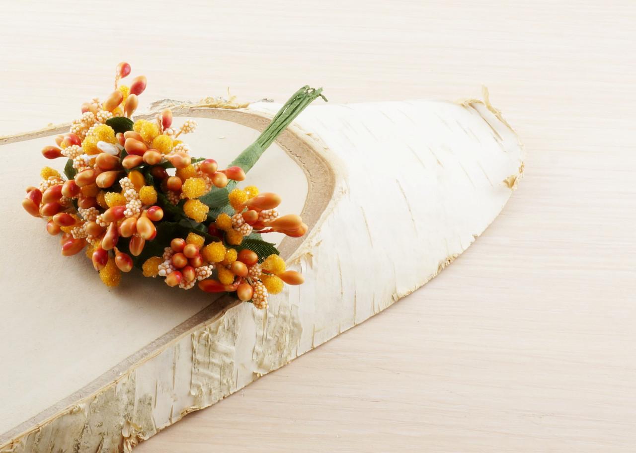 Тычинки бутоньерки оранжевые (6 шт) (товар при заказе от 200 грн) - магазин-студия Цацки в Чернигове