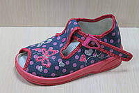 Тапочки на девочку Zetpol Зетпол, детская текстильная обувь р.18,19,22,27