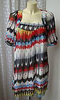 Платье туника летнее яркое мини Lavand р.48 6810