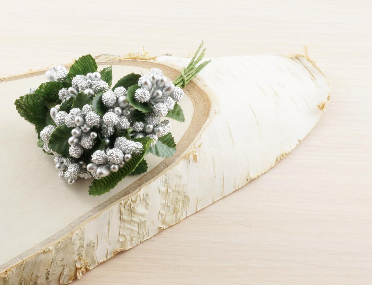 Тычинки бутоньерки серебряные (6 шт) (товар при заказе от 200 грн) - магазин-студия Цацки в Чернигове
