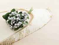 Тычинки бутоньерки серебряные (6 шт)