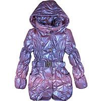Куртка для девочки-подростка с поясом-резинкой