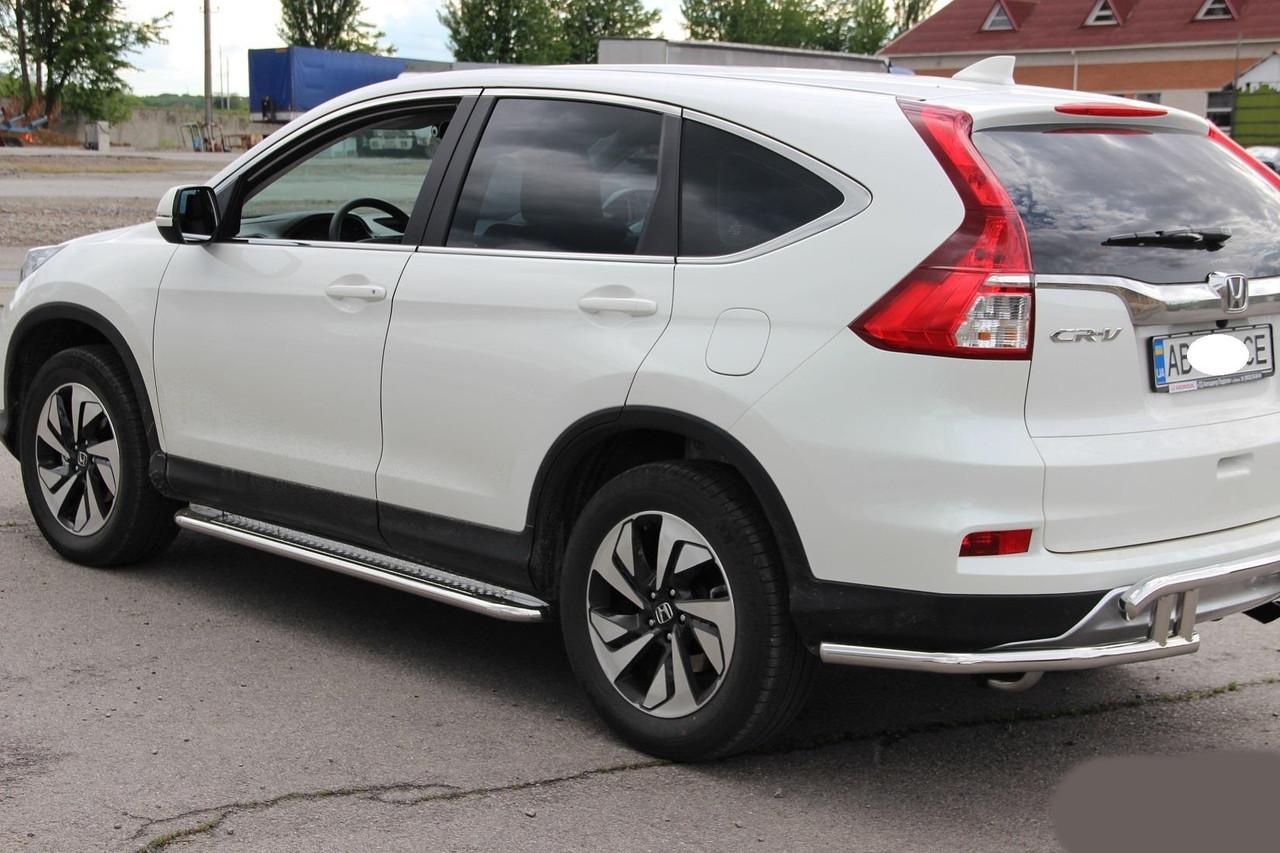 """Боковые площадки """"Premium"""" Honda CR-V (2015+) - Интернет-магазин """"Mars"""" в Киеве"""