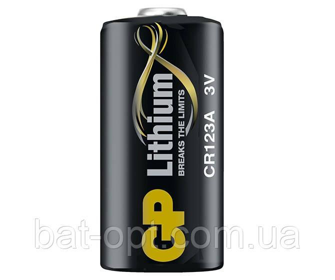 Батарейка литиевая GP CR123 U-1 Lithium DL123A 3V