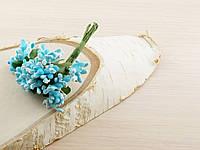 Тычинки бутоньерки голубые (6 шт)