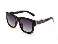 Солнцезащитные очки в стиле PRADA (15005) black, фото 1