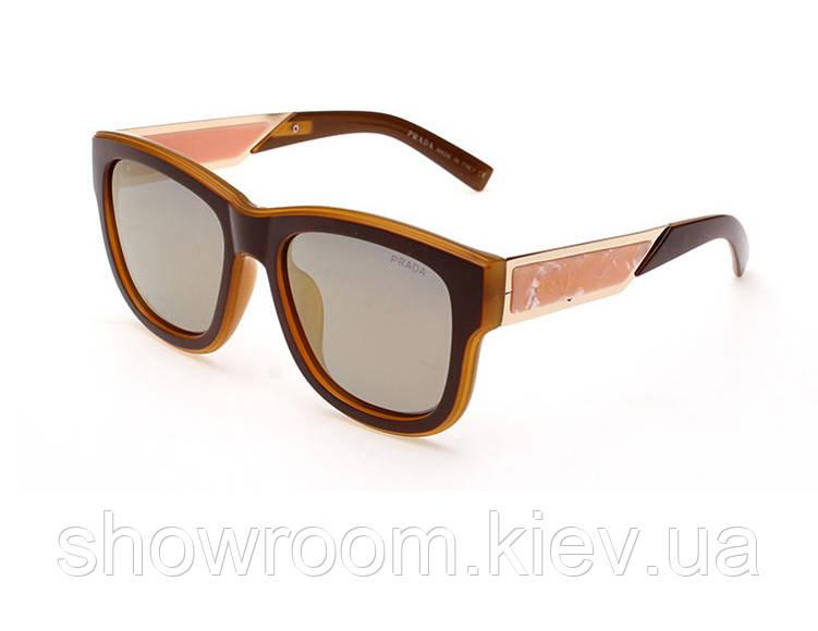 Солнцезащитные очки в стиле PRADA (15005) khaki