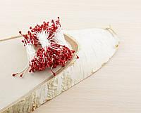 Тычинки на нитке красные (1 уп.=160тыч.)