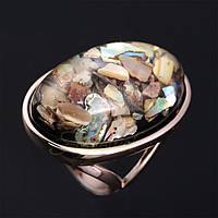 Позолоченное кольцо с ракушками «Перламутровое чудо», фото 1