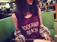 Майка Rockaway бордовая
