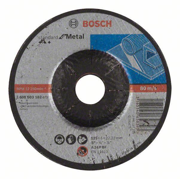 Обдирочный круг Bosch Standard по металлу 125х6мм SfM, вогнутый, 2608603182