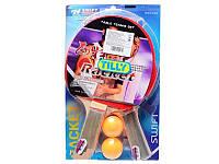 Теннис настольный BT-PPS-0019 ракетки (1,2см,цвет.ручка), 2 мяча лист ш.к./40