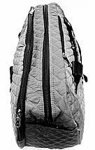 Стильная дорожная стеганая сумка облегченная серая, фото 3