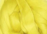 Толстая, крупная пряжа 100% шерсть мериноса.  26 мкрн. Цвет: Лимон. Топс.