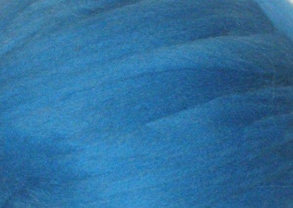 Толстая, крупная пряжа 100% шерсть 100г (4м). Цвет: Небесный. 25 мкрн. Топс. Лента для пледов