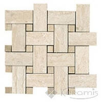 Capri мозаика Capri I Travertini 30x30 intreccio beige