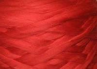 Толстая, крупная пряжа 100% шерсть мериноса.  25 мкрн.  Цвет: Огненно-красный. Топс.