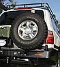 Выносной крепеж запасного колеса к бамперу Kaymar Toyota Land Cruiser 100