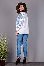 Вишита жіноча сорочка на домотканому олені оригінальний з візерунком, фото 3