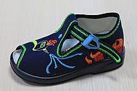 Тапочки на мальчика пламя, детская текстильная обувь тм Zetpol р.18,21