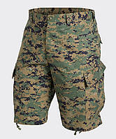 Шорты тактические Helikon-Tex® ACU Shorts NyCo Twill - Digital Woodland, фото 1