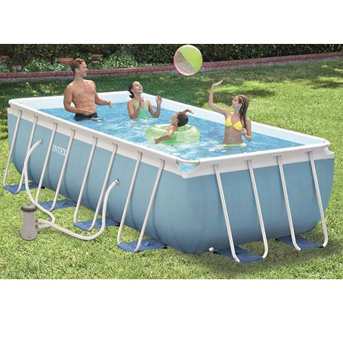 Каркасный бассейн Intex 28316 Prism Frame 400x200x100 см, фильтр-насос, лестница