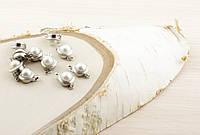 Застежка с жемчугом серебро (10мм)
