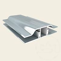 Соединительный профиль алюминиевый для монтажа поликарбоната АПЗ 8мм серебро Украина