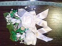 Свадебная бутоньерка № ДМ-01 (белая)