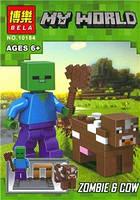10184 Конструктор Майнкрафт Zombie & Cow (BELA)