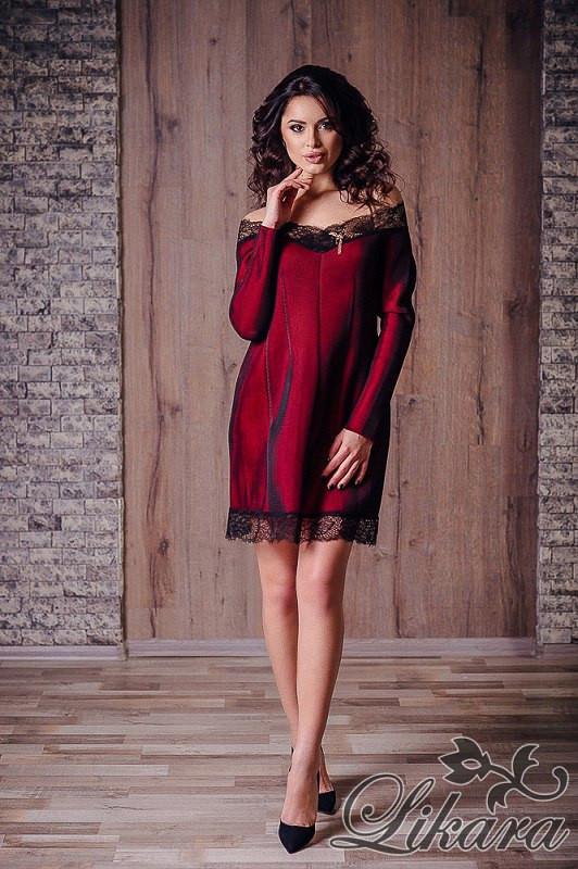 Красное платье с сеткой фото