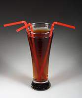 Трубочки для коктейлей с изгибом 285 мм/100 шт. (красные)