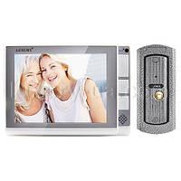 Цветной видеодомофон LUXURY 806 R2, (корпус черный, память, SD), домофон 8 дюймов с видеонаблюдением