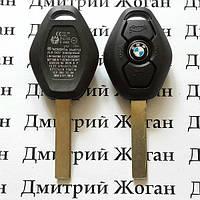 Автоключ для BMW (бмв) 1,3,5,7  (заготовка) 3 - кнопки HU92, PCF7935 (ID44), 433 Mhz