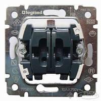 Legrand механизм выключателя Legrand Galea Life 2 кл., 10 А, черный (775805)