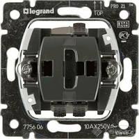 Legrand механизм выключателя Legrand Galea Life 1 кл., 10 А, черный (775806)