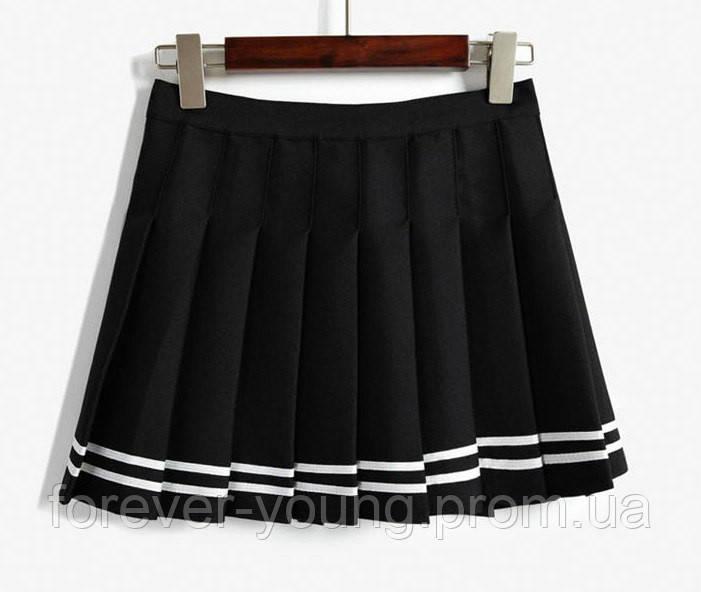 1b4fcb47334 Теннисная юбка с белыми полосками