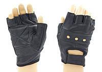 Перчатки спортивные кожаные WorkOut