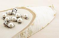 Застежка с жемчугом серебро (20мм) (товар при заказе от 500грн)