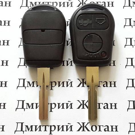 Автоключ для BMW (бмв) 3, 5, 7, X5, X3, Z4, E38, E39, E46 ETC New 3 - кнопки лезвие HU58,315/433Mhz, фото 2