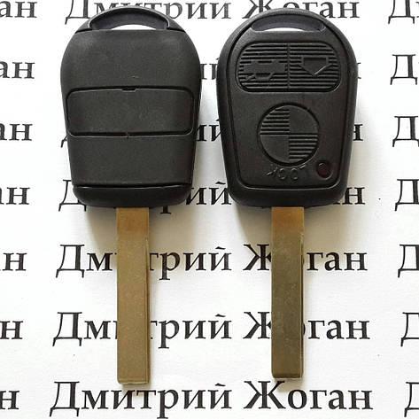 Автоключ для BMW (бмв) 3, 5, 7, X5, X3, Z4, E38, E39, E46 ETC New 3 - кнопки лезвие HU92,315/433 Mhz, фото 2