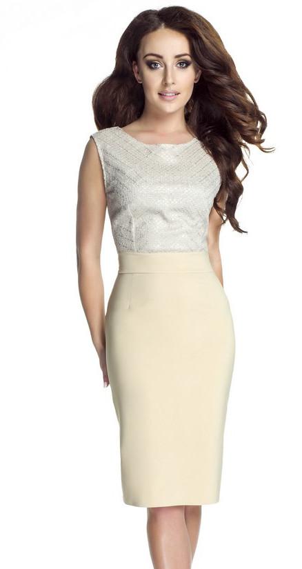 Платье Бежевого Цвета Купить